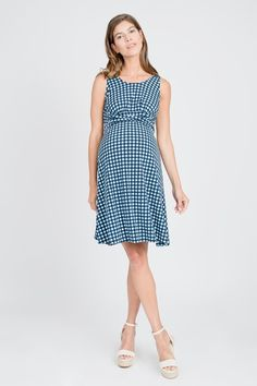 Waist Tie Gingham Dress by Leota Maternity at Le Tote  - I enjoyed wearing this one in my Le Tote box.
