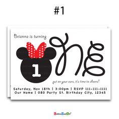 A personal favorite from my Etsy shop https://www.etsy.com/listing/600848447/mickey-mouse-birthday-invitation-oh