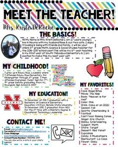 Looking for a cute newsletter you can hand out during open house or on the first day of school for your students and parents to get to know you? This completely editable newsletter is what you need!! Customize the headers and the bodies of text! I put my