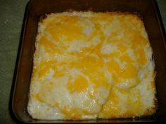 Cheesy Ranch Chicken ... Pour a generous amount of ranch dressing into a baking dish and spread to thinly cover the bottom. Place boneless chicken breasts (not too thick) into the dish and cover with more ranch. Sprinkle with shredded colby jack cheese and bake at 350 degrees for 30 minutes. Serve over egg noodles.