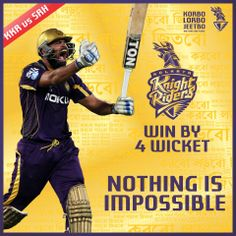 They wrote us off after four losses, said we'd never make it to the Playoffs. And now their voices have drowned in your cheers, #KnightRiders. 7 wins on a trot, and we are just beginning!  #YusufBhai makes the quickest IPL fifty to seal the second spot on the table! We won by 4 wickets.  #KorboLorboJeetbo #OneTeamOnePledge #KKRvsSRH #BelieveKKR