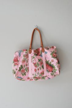 floral canvas weekender bag | http://www.etsy.com/listing/95577362/floral-bag-fabric-weekender-big-rose-bag