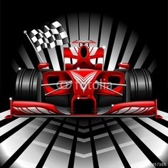 Sold! #Formula1 #Red #Race #Car & #Checkered #Flag ~ #Vector by #BluedarkArt ~ on #Fotolia  https://it.fotolia.com/id/67457988