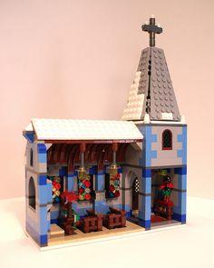 LEGO Winter Village Church: Interior by Philocrites, via Flickr