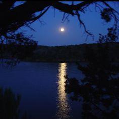 Moonrise on Possum Kingdom Lake, Texas