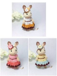 Calico Critters/ Sylvanian Families Crochet Clothes/ Outfit for Mother #2002 Made to Order by AmigurumiByMe on Etsy https://www.etsy.com/listing/259295485/calico-critters-sylvanian-families