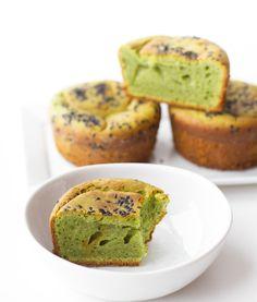 Matcha mochi muffins — The Tea Squirrel Mochi Muffin Recipe, Muffin Recipes, Baking Recipes, Dessert Recipes, Matcha Mochi Cake Recipe, Matcha Cake, Sushi Recipes, Recipies, Butter Mochi