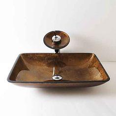 Design waschbecken Zeitgenössisch T12*L560*W360*H110MM Rechteckig Sink Material ist HartglasWaschbecken für Badezimmer / Armatur für Badezimmer / Einbauring 2017 - €217.89