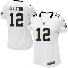 NFL  Women's Game Nike New Orleans Saints #12 Marques Colston White Jersey $69.99