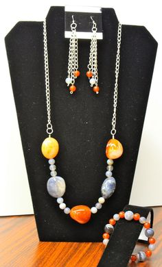 This is sold but was a one of a kind using Botswana Agate and chain.