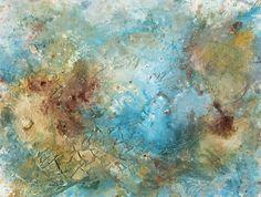 "Genesis 30, Acrylic, Calcium Carbonate, Emulsion and Pigments on paper, 24"" x 18"", $500, http://transformgallery.com/Erick-sanchez/"