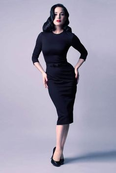 New line from Dita Von Teese. Love this black Dress!