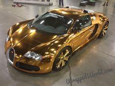 Flo Rida's gold chrome Bugatti Veyron