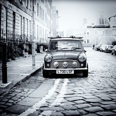 Slippy cobbles and a mini.