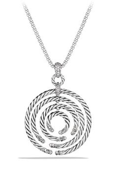 David Yurman 'Willow' Medium Pendant with Diamonds on Chain available at #Nordstrom