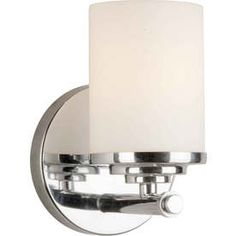 Master bathroom sconce. Shandy Chrome Bathroom Vanity Light from Lowes. $60 a piece. Stick with chrome if possible.
