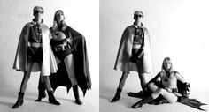 Andy Warhol and Nico dress up as Batman and Robin. Original Artist Edition Print by Frank Bez (Esquire Magazine Shoot, 1967).