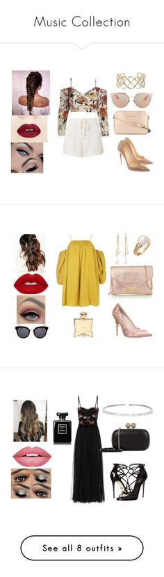 """""""Music Collection"""" by juliasoaresviana on Polyvore featuring moda, A.L.C., Christian Louboutin, MICHAEL Michael Kors, Christian Dior, Blue Nile, Boohoo, Suzywan DELUXE, Kenneth Jay Lane e Cartier"""