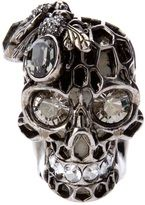 Full screen zoom ALEXANDER MCQUEEN honeycombed skull ring. Get it here http://www.topfloor.com/shops/collections/filter/mine #jewellery #jewelry #ring #bracelet #fashion #mydesigns4you #topfloor #style #trend #stylehaul #necklace #earrings #statement #gem