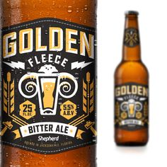 Shepherd Agency are big fans of beer so they decided to start their own. They called it Golden Fleece and they designed packaging that shine.