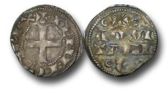ANGLO-GALLIC, Henry II (Count of Poitou and Duke of Aquitaine 1152-1169), Denier, 0.75g., cross pattée, +hENRICVS REX, rev., AQVITANIE in three lines across field, cross above, annulets on either side, (Elias 1), toned, very fine Old Coins, Aquitaine, Seals, Old And New, Duke, Count, Two By Two, British, Paper