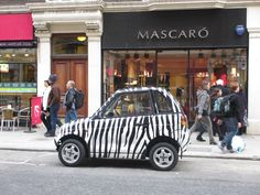 This is chic...smaller than a Smart Car! :)