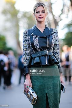 Lala Rudge is seen, outside the Rochas show, at the Palais de Tokyo, during Paris Fashion Week Spring Summer 2017, on September 28, 2016 in Paris, France.
