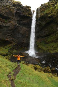 Hidden waterfall next to Skógafoss, Iceland