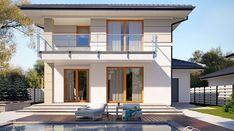 Karat - zdjęcie 3 House Layout Plans, Duplex House Plans, Small House Plans, House Layouts, Modern Family House, Modern House Design, Mediterranean Homes Exterior, Storey Homes, Tuscan House