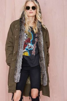 Glamorous Isabelle Faux Fur Anorak - The Temp Drop Shop