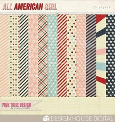 All American Girl - Digital Papers