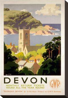 Devon, GWR, c.1930s Travel Poster