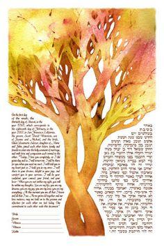 Tree of Life  Warmth Ketubah by KetubahStudio on Etsy, $199.00