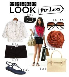 """""""Selena-Look for Less"""" by fullofweakness ❤ liked on Polyvore"""