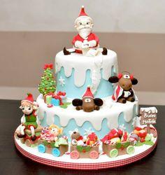 Christmas cake - by cakemesweet @ CakesDecor.com - cake decorating website