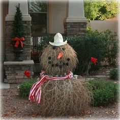 tumble weed snowman... for the desert