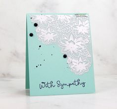 Today for Technique Time at Unity, I am sharing a floral vellum card overlay with stamping and heat embossing. Sentiment: With symp. Sakura Koi Watercolor, Watercolor Splatter, Unity Stamps, Stamping Tools, Sympathy Cards, Handmade Flowers, Stampin Up Cards, Overlays, Card Making