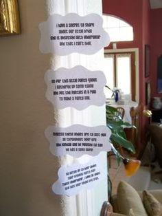 panty line poem....great for lingerie shower