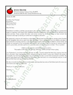 13 Best Teacher Cover Letters Images In 2013 Cover