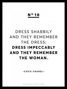 Rare Coco Chanel Quotes | For inbetweenie and plus size fashion inspo visit www.dressingup.co.nz