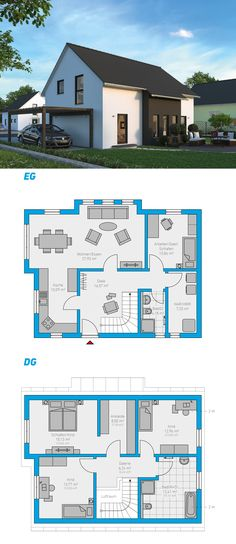Linea 145 - schlüsselfertiges Massivhaus 1,5-geschossig #spektralhaus #ingutenwänden #1,5geschossig #Grundriss #Hausbau #Massivhaus #Steinmassivhaus #Steinhaus #schlüsselfertig #neubau #eigenheim #traumhaus #ausbauhaus