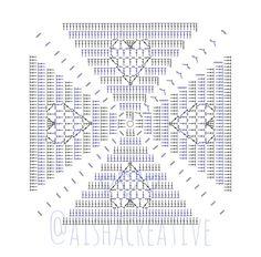 Crochet Squares, Crochet Granny, Free Crochet, Granny Love, Stitch Patterns, Crochet Patterns, Mandala, Crochet Flowers, Doilies