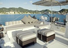 Accommodations: Accommodate 6 guests in 3 cabins. -- Luxury Owners Version Accommodate 6 guests in 3 cabins. The Master Suite has a walk around Queen. The two VIP Staterooms have walk around queens. All Staterooms are ensuite. The crew have a separate companionway and facilities. Fully air conditioned through out. call 1800 262 0308 or visit www.catamarans.com email: mailto:charter@catamarans.com