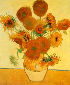 Titulo:Los Girasoles   Autor: Vincent van Gogh   Estilo: Neo-impresionismo  Realización: en 1888  Museo: Neue Pinakothek, Alemania.  En esta tarea había que hacer una descripción de la obra audio visualmente mediante la página Voicethread.