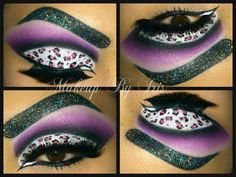Leopard  with Cut Crease Makeup Look