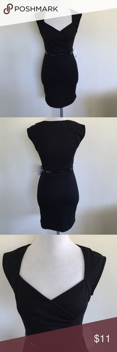 """Forever 21 Little Black Dress, size small NWT Really cute little black dress from Forever 21 in size small, NWT. Measures 31"""" from shoulder to hem and features a black patent belt. Forever 21 Dresses"""