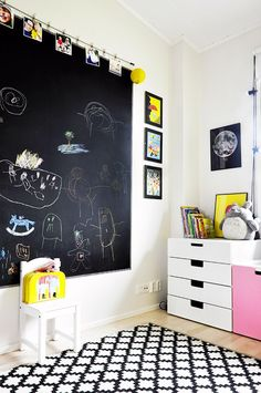 Life Thru a Lens :: cool kids room with chalk board