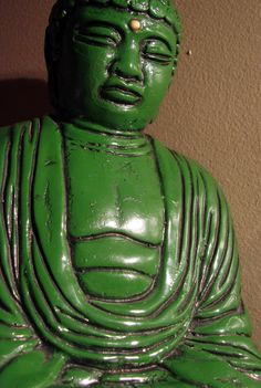 Beautiful Green Vintage Ceramic Buddha by AntiqueAlchemists, $80.00