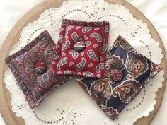 crafts made from ties | Lavender Sachets made from silk ties | Craft Ideas