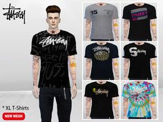 XL Urban T-Shirts by McLayneSims at TSR • Sims 4 Updates